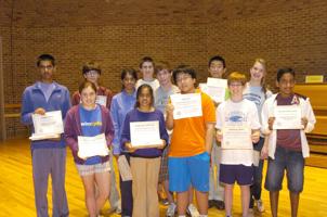 Math Contest winners
