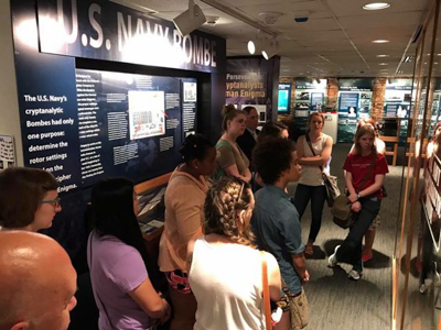 Students tour the National Cryptologic Museum