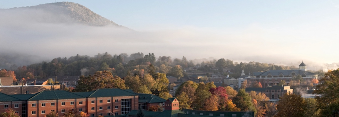 Campus View in Fog